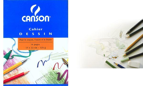 CANSON Zeichenheft, blanko, 125 g/qm, 170 x 220 mm