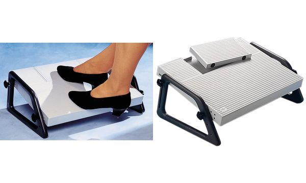 WEDO Fußstütze Relax, stufenlos höhenverstellbar, lichtgrau