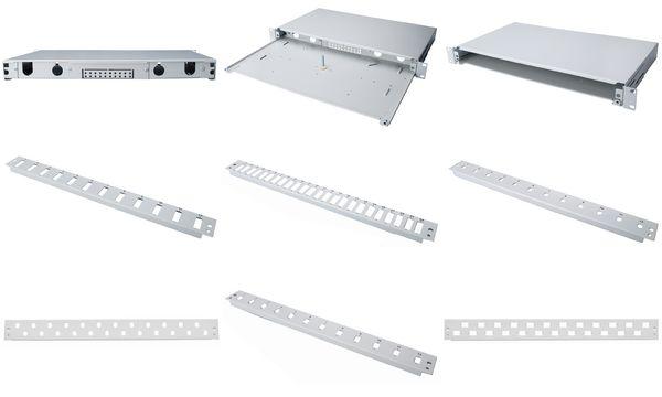 DIGITUS Frontplatte, 1 HE, für 6 SC Duplex Kupplungen
