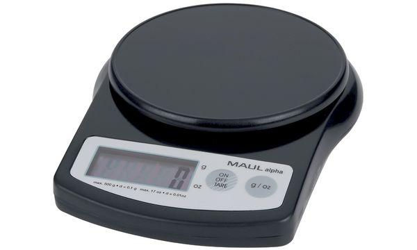 MAULalpha Präzisionswaage, Tragkraft: 500 g, schwarz