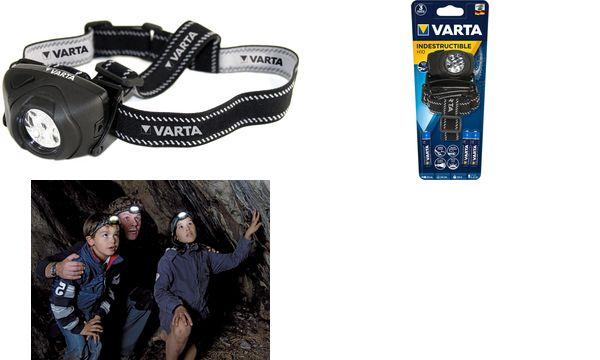 VARTA Kopflampe Indestructible H10, inkl. 3 x AAA Micro