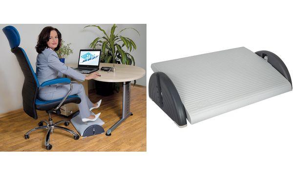 WEDO Fußstütze Relax Plus, höhenverstellbar, lichtgrau