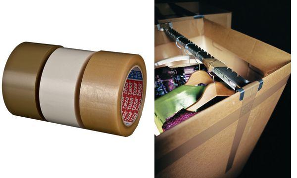 #4xtesapack Verpackungsklebeband 4124, aus PVC, 75 mm x ...