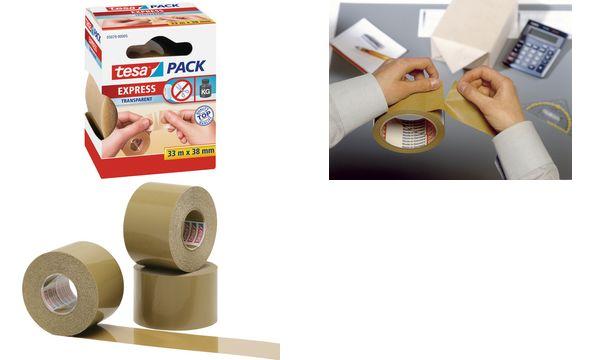 tesapack Verpackungsklebeband Express von Hand einreißbar