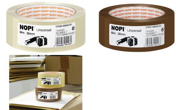 #8xNOPI Verpackungsklebeband Universal, 38 mm x 66 m, braun