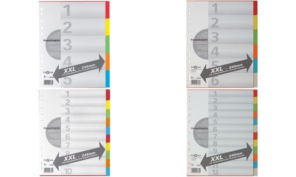 PAGNA Karton-Register, DIN A4, 10-teilig, überbreit