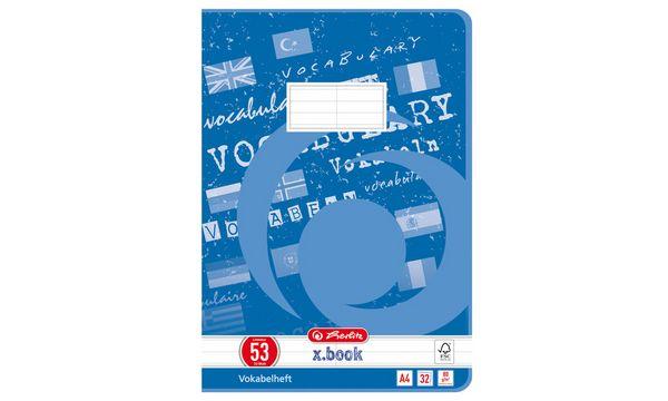 herlitz Vokabelheft x.book, DIN A4, 2-spaltig, 32 Blatt