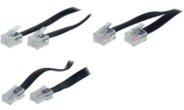 shiverpeaks BASIC-S Modular-Kabel, RJ11-RJ11 Stecker, 3,0 m