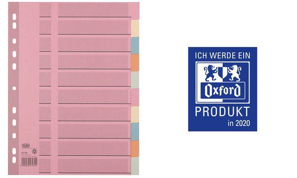 Oxford Tauenpapier-Register, blanko, A4, farbig, 10-teilig