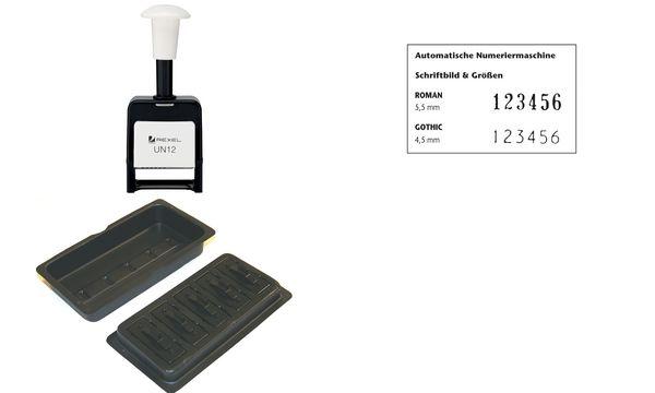 #5xRexel Tinten-Nachfülleinheit, schwarz