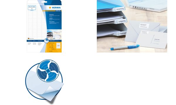 HERMA Inkjet-Etiketten SPECIAL, 45,7 x 21,2 mm, weiß
