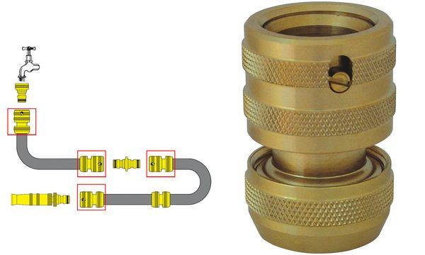 C.K Endanschlussstück für 1/2 Wasserschläuche