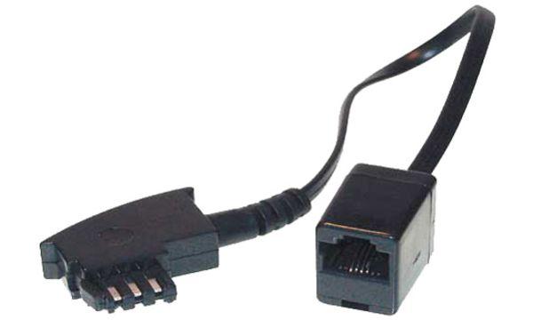 shiverpeaks BASIC-S Telefon-Adapterkabel, TAE-F Stecker -