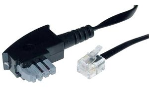 shiverpeaks BASIC-S Telefonkabel, schwarz, 3,0 m