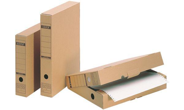 #10xLEITZ Archiv-Schachtel, mit Verschlusslasche, A4, We...