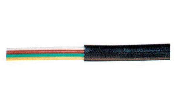 shiverpeaks BASIC-S Telefonkabel, flach, schwarz, 100 m