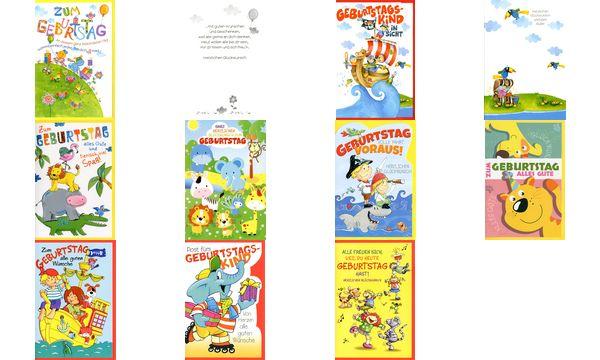 HORN Kinder-Geburtstagskarte - Zoo Tiere - inkl. Umschlag