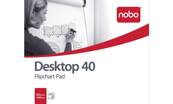 nobo Flipchart-Block, Format: DIN B1, (B)584 x (H)483 mm