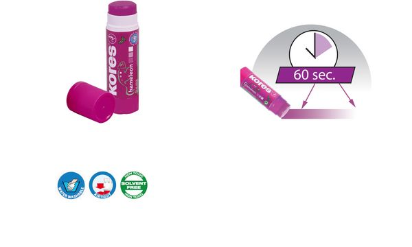 Kores Klebestift CHAMELEON, 15 g, lila, lösungsmittelfrei