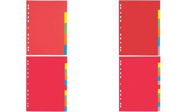 PAGNA Karton-Register, DIN A4, 6-teilig, 6-farbig