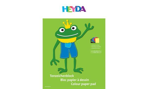HEYDA Tonpapierblock, DIN A4, 130 g/qm