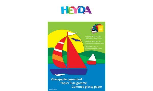 HEYDA Glanzpapier-Bastelmappe, Buntpapier, DIN A4
