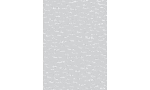 #25xHEYDA Transparentpapier Danke, DIN A4, weiß