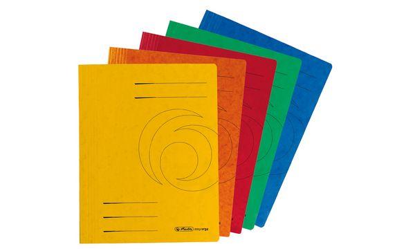 #10xherlitz Schnellhefter easyorga, A4, Colorspankarton,...