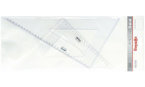 rotring Zeichen-Dreieck Centro, 2er-Set