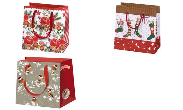 SUSY CARD Weihnachts-Geschenktüte Nordic Xmas, klein