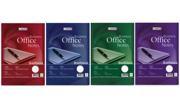 LANDRÉ Briefblock Business Office Notes, DIN A4, blanko