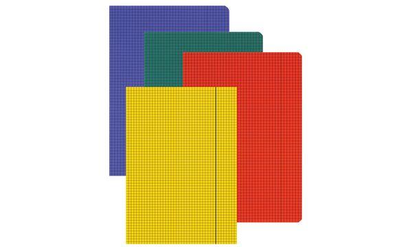 #10xLANDRE Folio-Diarien - Glanzkladden, DIN A4, kariert