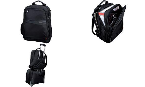 LiGHTPAK Notebook-Rucksack ECHO, aus Nylon, schwarz