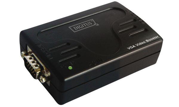 DIGITUS VGA Signalverstärker, 1-fach, schwarz