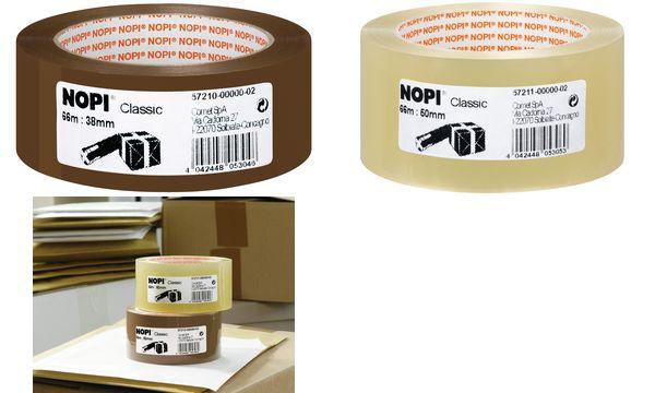 #6xNOPI Verpackungsklebeband Classic, 50mm x 66m, braun
