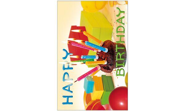 SUSY CARD Geburtstagskarte Bärchen Kleeblatt
