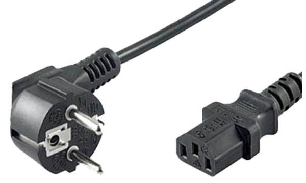 shiverpeaks BASIC-S Schutzkontakt Stromkabel, 1,8 m, sch...
