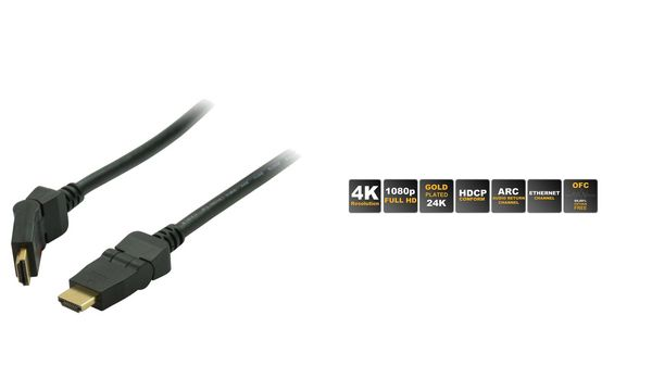 shiverpeaks BASIC-S HDMI Kabel, A-Stecker - winkelbar