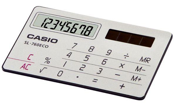 CASIO Taschenrechner SL-760 ECO, Solarbetrieb