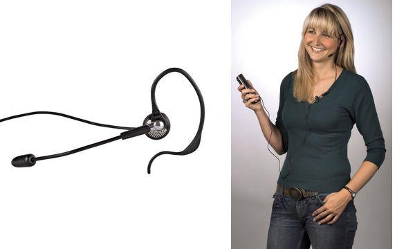 hama Telefon-Headset für schnurlose Telefone, schwarz/chrom