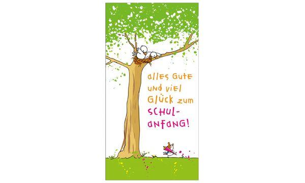SUSY CARD Schulanfangs-Grußkarte Schulküken