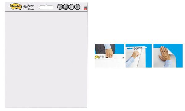 #2x3M Post-it Meeting-Chart, 635 x 762 mm, weiß, kariert
