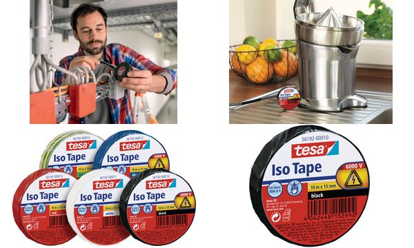 tesa Isolierband ISO TAPE, 19 mm x 20 m, weiß