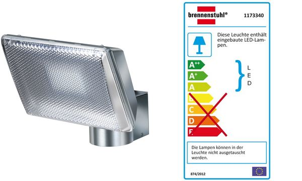 brennenstuhl Power-LED-Leuchte L2705, IP44, zur Wandmontage