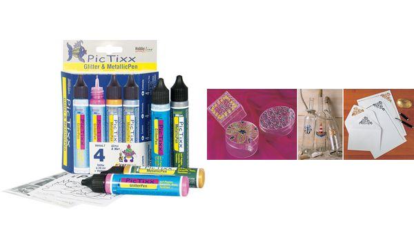 KREUL Glitter & MetallicPen Hobby Line PicTixx, 4er-Set