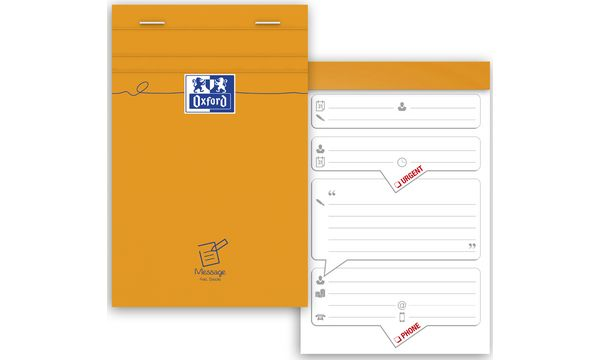 Oxford Gesprächs-Notizblock, 110 x 170 mm, 80 Blatt, orange