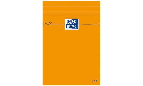 Oxford Notizblock, 110 x 170 mm, kariert, 80 Blatt, orange