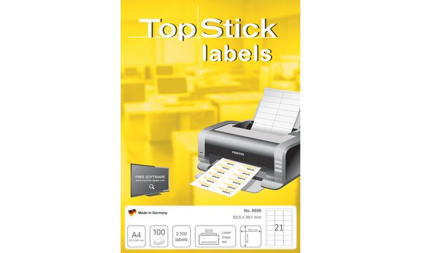 TOP STICK Universal-Etiketten, 70,0 x 67,7 mm, weiß