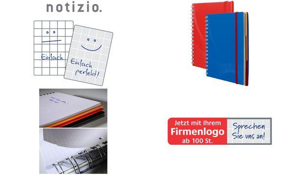 AVERY Zweckform Notizbuch Notizio, DIN A5, kariert, blau