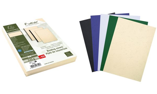 EXACOMPTA Einbanddeckel EVERCOVER, DIN A4, farbig sortiert
